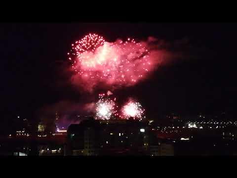 Dresden: Abschluss-Feuerwerk vom Stadtfest Canaletto  ...