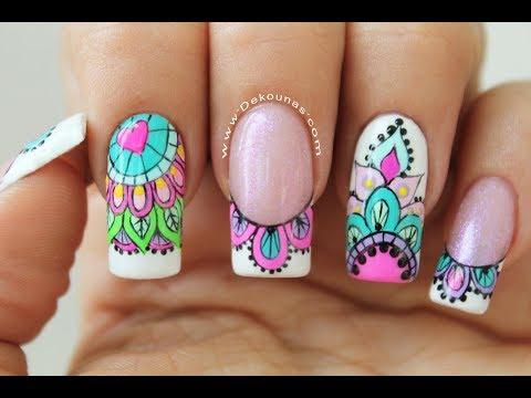 Videos de uñas - Clase #13 Como decorar en Semipermanente   Deko Uñas