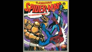 a 1973 vinyl recording of a Spider-Man radio play produced by Power Records.