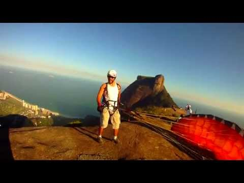 DFLY voo Speed fly por do sol pedra bonita - Rio de janeiro - www.speedflybrazil.com.br