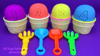 Video 4 Color Kinetic Sand in Ice Cream Cups | Surprise Toys Coles Little Shop Yowie Surprise Eggs MP3, 3GP, MP4, WEBM, AVI, FLV Januari 2019