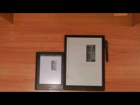 Onyx Boox i86HDML + Frontlight vs Sony Digital Paper (DPT-S1) Comparison Review Part 1