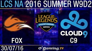 Echo Fox vs Cloud9 - LCS NA Summer Split 2016 - W9D