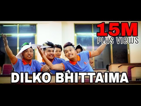 Dilko Bhittaima Official Music Video || The Cartoonz Crew