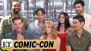 More from Entertainment Tonight: http://bit.ly/1xTQtvw  Live from ET's Facebook Page, Leanne Aguilera talks to the 'Shadowhunters' cast from San Diego Comic-Con 2017!