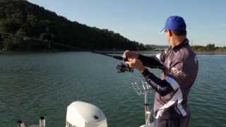 Catching fish with running bait and Freespooler reels
