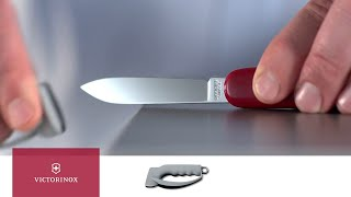 Extend the life of your blade by sharpening correctly. Watch this video to learn how to sharpen your Swiss Army Knife.