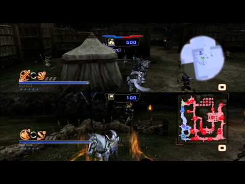 Dynasty Warriors 7 Empires - How to play Co-op Split Screen (PS3 720p Gameplay)