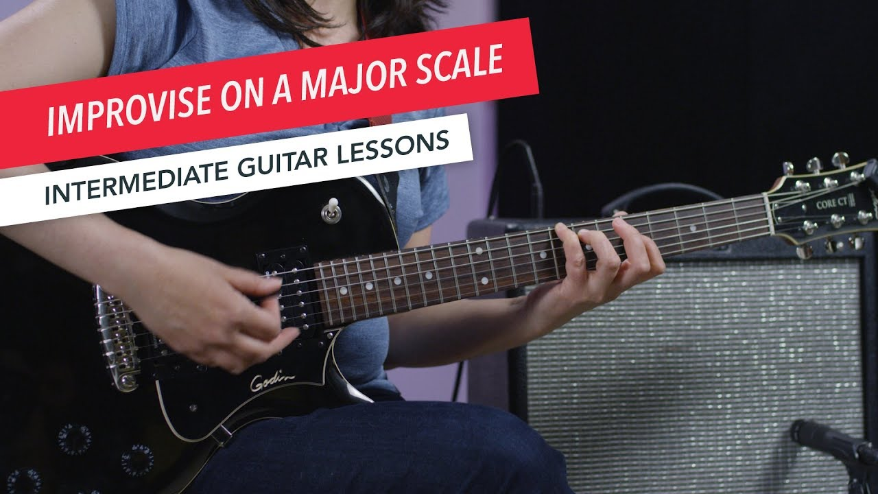 How to Play Guitar: Improvising with the Major Scale | Intermediate | Guitar Lessons
