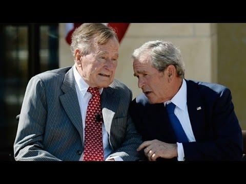 George H.W. Bush biography slams son's aides
