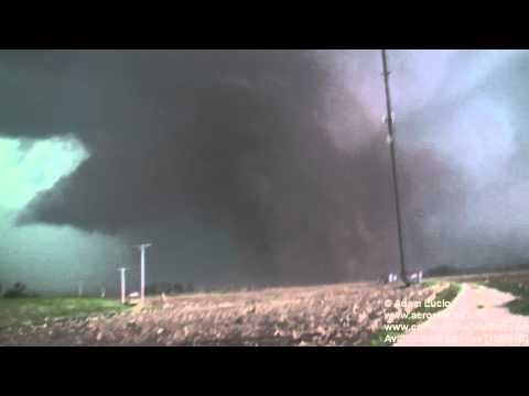 Tornado Crossing I-55 North of Litchfield, Illinois April 19th 2011