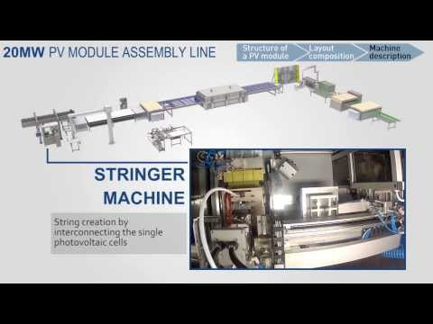 20MW Semi-automatic turnkey solar module manufacturing