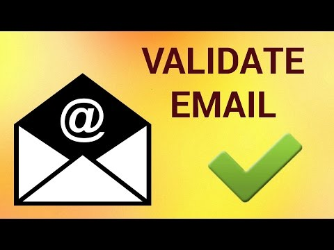 How to Validate Email Address