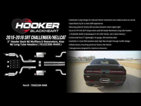 2015-2016 SRT Challenger/Hellcat, Header-Back W/ Mufflers & Resonators