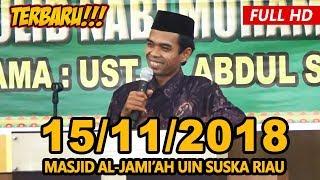 Video Ceramah Terbaru Ustadz Abdul Somad Lc, MA - Masjid Al-Jami'ah UIN Suska Riau MP3, 3GP, MP4, WEBM, AVI, FLV November 2018