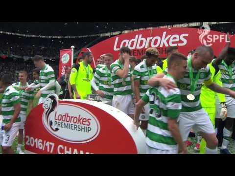 Watch Celtic Invincibles lift the Premiership trophy!