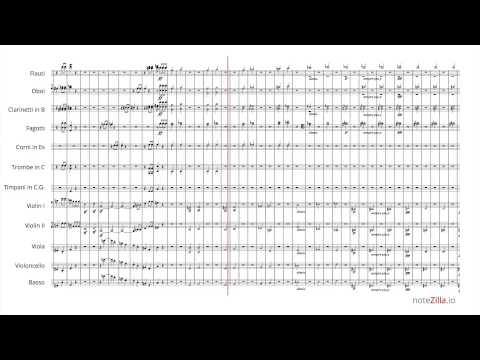 Sheet Music - Beethoven Symphony No. 5, Mvt. I (HD)