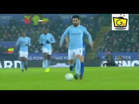 GOL BERNARDO SILVA  Leicester City 0  vs 1 Manchester City 19/12/2017 highlights Carabao Cup 2017