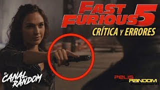 Nonton Errores de peliculas Fast and Furious 5 Rapidos y Furiosos Fast Five Critica WTF PQC Film Subtitle Indonesia Streaming Movie Download