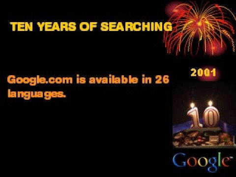 HISTORY OF GOOGLE - CONGRATULATIONS TO  LARRY PAGE AND SERGEY BIN BY SATHAR AL KARAN