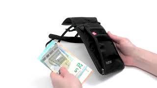 Шейный кошелек на молнии с защитой от считывания данных RFID Block. Tatonka Skin Neck Pouch RIFD B