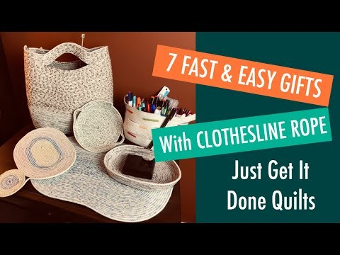 Sewing - 7 Fast and Easy DIY Gifts Using Clothes Line Rope