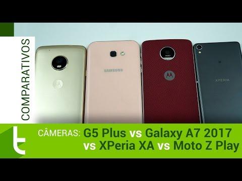 Moto G5 Plus, Galaxy A7 2017, Xperia XA e Moto Z Play  Comparativo de câmeras do TudoCelular