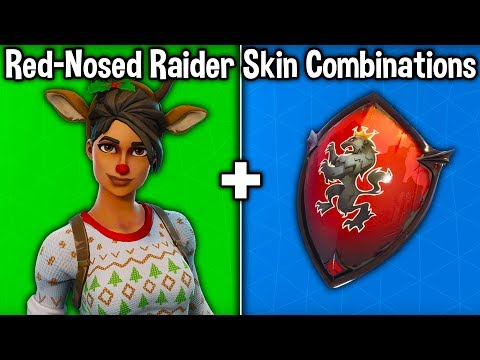 10 BEST 'RED-NOSED RAIDER' SKIN COMBINATIONS! (Fortnite Skin + Backbling Combos)