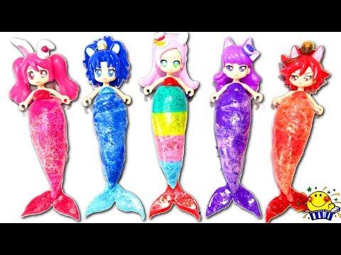 プリキュアアラモードがキラキラ人魚姫に変身❤︎アンパンマン  …