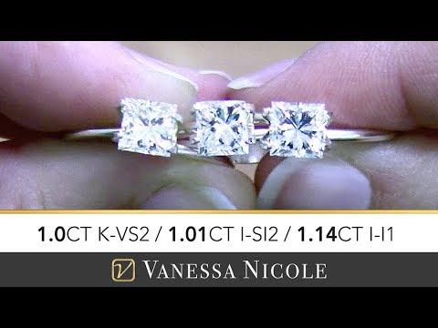 1ct Princess Cut Diamonds - Daniel's Diamond Selection for Engagement Ring  - Vanessa Nicole Jewels