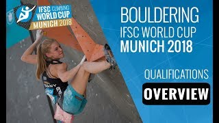 IFSC Climbing World Cup Munich 2018 - Bouldering Qualification Overview by International Federation of Sport Climbing