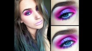 ♡ Pink and purple my little pony eyes | makeup tutorial ♡ - YouTube