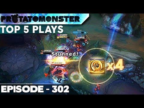 League of Legends Top 5 Plays Week 302 (видео)