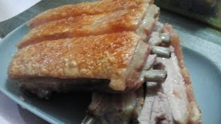Crispy baked ribs. You can use any cut of pork with the skin on. For more goodies check us out at http://pinoycookery.com.