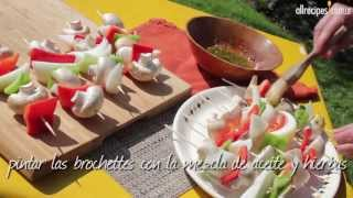 Brochettes de vegetales