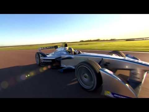 formula - First test of the electric Formula E in France.