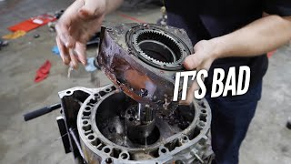 We Find HORRIBLE Damage inside the 3 Rotor. Engine Teardown and Rebuild with Welch's by Rob Dahm
