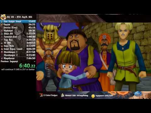 7:39:52 DQ8 3DS Speedrun PB