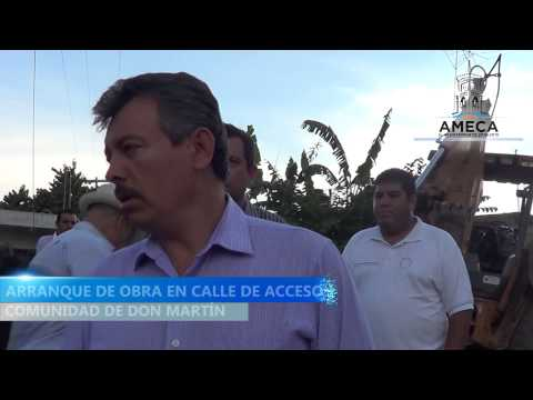 ARRANQUE DE OBRA EN EL ACCESO DE LA COMUNIDAD DE DON MART͎