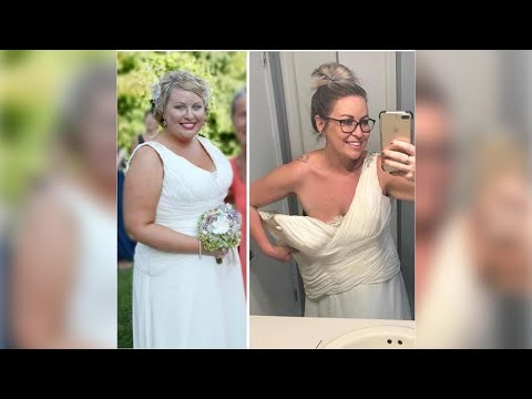 After 7 Years of Marriage, 2 Kids + Losing 109 LBS (!!), This Woman Was Ready for a Wedding Do-Ov…