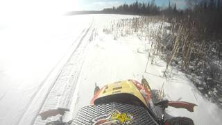 10. Water skip almost fail polaris indy 340 straight pipe