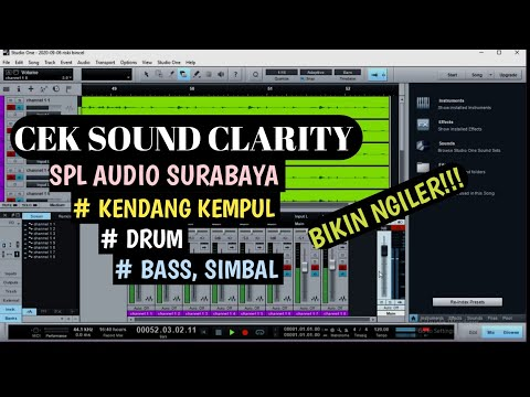 CEK SOUND KENDANG KEMPUL BASS DRUM CLARITY SPL AUDIO