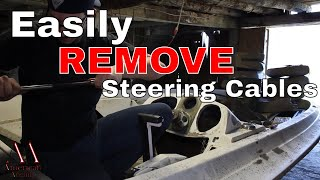 6. How to Remove Boat Steering Cables