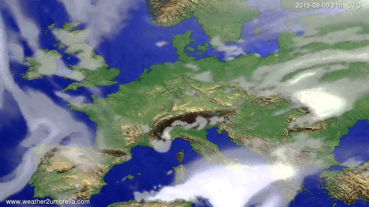 Cloud forecast Europe 2015-09-07