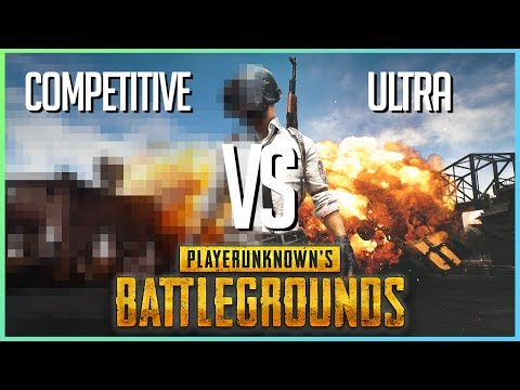 PUBG (Competitive Vs Ultra Settings) | I5-4590 / GTX 960 4GB | PLAYERUNKNOWN'S BATTLEGROUND