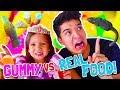GUMMY vs REAL FOOD! ft Princess Gorgeous