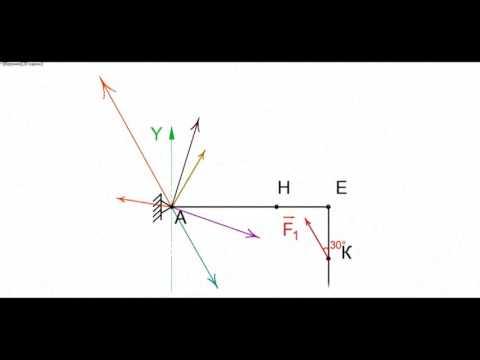 Теоретическая механика термех  Статика  Нахождение реакции связей часть 1 - DomaVideo.Ru