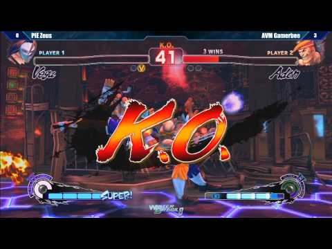 gamerbee - SSF4 AE2012 Exhibition: AVM Gamerbee vs PIE Zeus - Winter Brawl 8 Tournament.
