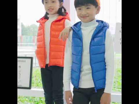 Детский жилет с капюшоном детская верхняя одежда зимние пальто теплый хлоп… видео