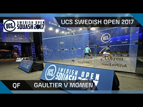 Squash: Gaultier v Momen - UCS Swedish Open 2017 QF Highlights